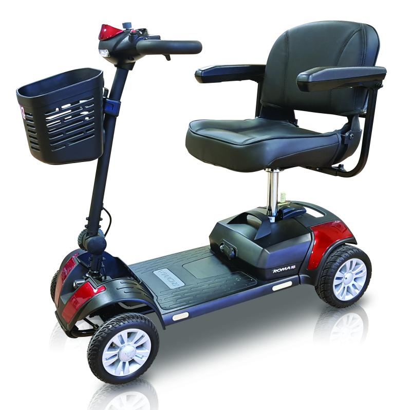 A Dallas DX Red Mobility Scooter